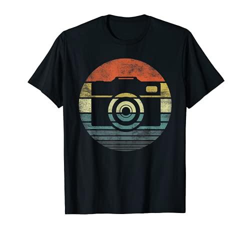 Fotgrafo Regalos Retro Vintage Sunset Fotografa Cmara Camiseta