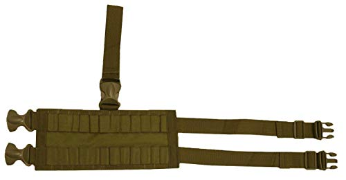 Ultimate Arms Gear Coyote Tan Tactical 24 Shot Shell Ammo Reload Carrier Thigh Dropleg For 12 & 20 Gauge Shotgun Rounds Ambidextrous Adjustable Length Dual Drop Leg Straps