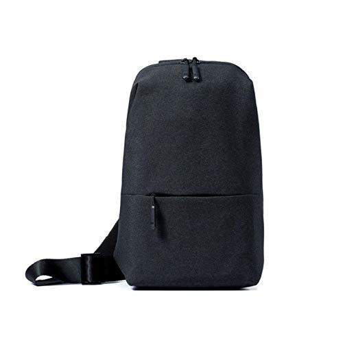 Original mochila urbana ocio pecho paquete bolsa para hombres mujeres tamaño pequeño hombro tipo mochila mochila mochilas, Black (Negro) - berglink-KFDKYB