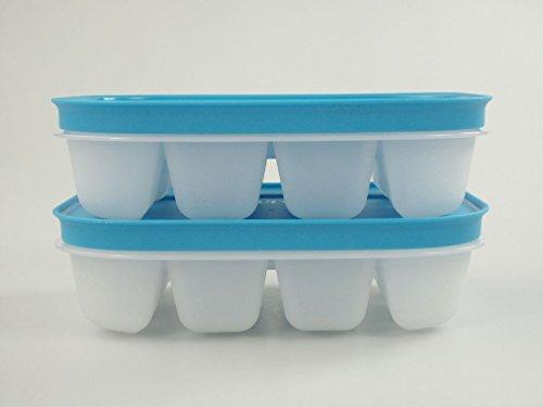 TUPPERWARE Gefrier-Behälter Eiswürfler hellblau (2) mini Eiswürfel Eis