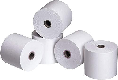 Lot de 50 rouleaux de papier thermique homologués 80 mm x 80 m, Diamètre 12 mm – Enregistreur de caisse haute qualité