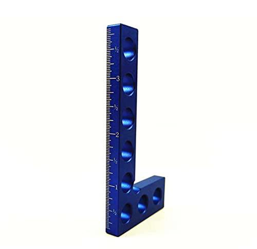 COUYY Aleación de Aluminio Plaza Regla Altura Ruler 90 Grado Cuadrado Regla Madera Regla Ruler Herramienta de medición Regla Cuadrada Publicación de anuncios,Azul