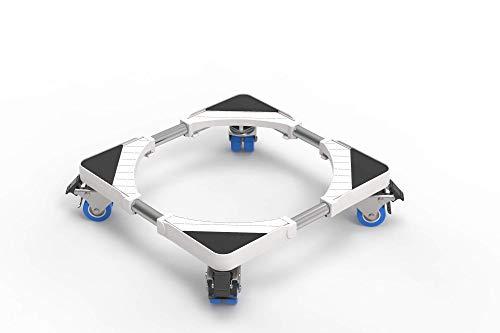 Dewel Untergestell für Waschmaschine, Roller, verstellbar, 45 cm-70 cm, Stützlast 300 kg, Geräuschreduzierung mit Kühl-/Waschmaschine/Trockner