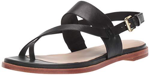 Cole Haan Women's Anica Thong Sandal Flat, black, 7.5 B US