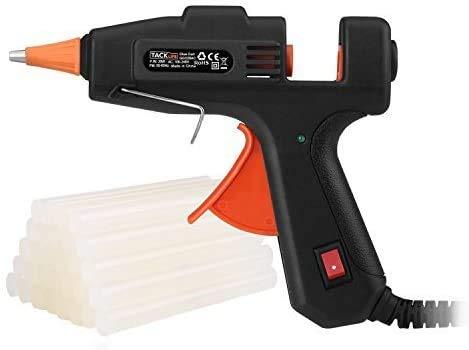 TACKLIFE Mini Hot Glue Gun 20w with 30 Pcs EVA Glue Sticks Flexible Trigger High Temp Overheating Protection and Heating up Quickly Hot Melt Glue Gun for DIY Small Craft and Quick Repairs-GGO20AC