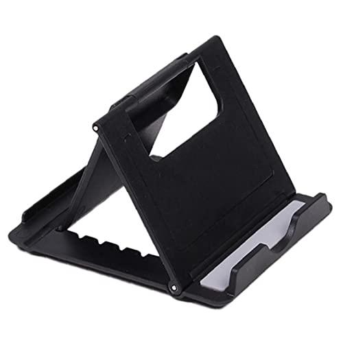 nJiaMe 1pc Universal de Escritorio Plegable Multi-ángulo Tabla del sostenedor plástico del Soporte del Soporte para el teléfono de iPod del iPhone y la Tableta (Negro)