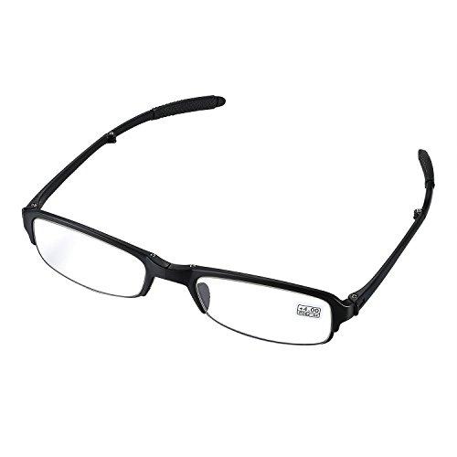 Aroncent Lesebrille schwarz in verschiedenen Stärken, Lesehilfe Sehhilfe Augenoptik Halbrand Halbrandbrille Brille für Damen Herren +4.00