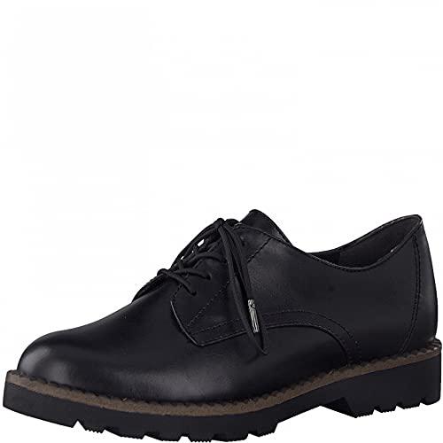 Tamaris Damen Schnürhalbschuhe, Frauen Businessschuhe,Comfort Lining,TOUCHit-Fußbett,klassisch,elegant,Schnuerschuhe,Black MATT,41 EU / 7.5 UK