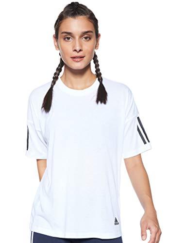 adidas Women's Must Haves 3-Stripes Tee Maglietta, Donna, Bianco/Nero, XS 36-38