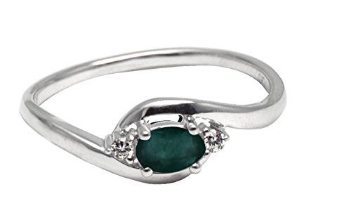Smaragd Ring - Weißgold Ring mit Diamanten