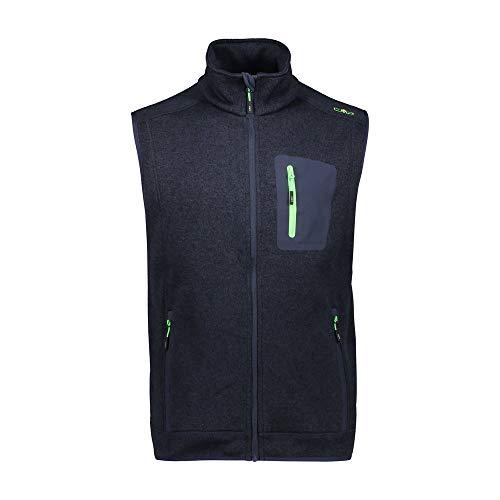 CMPI5 Fleece-Weste für Herren, meliert, Knit Tech, B.Blue Mel-Grün, Neon, 50, B.Blue Mel.-Neongrün