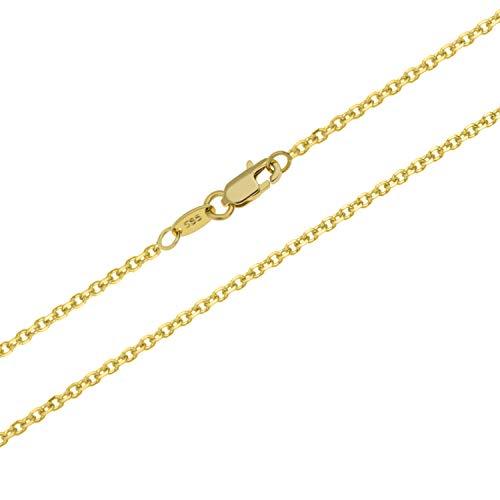 Goldkette Ankerkette Massiv Gold 585 Gelbgold Halskette Herren Damen 40 60 cm 40 cm