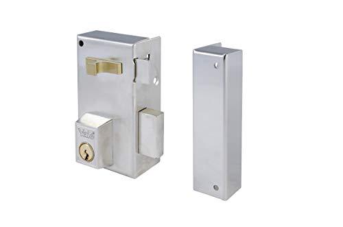 Yale 56AR70DHN Cerradura De Sobreponer Estándar Para Puertas, Niquelado, Entrada 40 mm Derecha