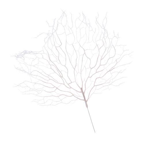 Hellery Árbol de Navidad Artificial del Ornamento de Las Flores de La Rama de árbol, Colgante de La Vela - Blanco, Individual
