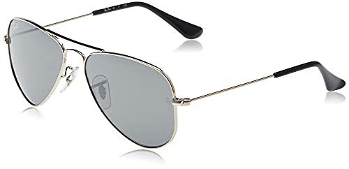 Ray-Ban 0rj9506s 212/6g 52 Gafas de Sol, Shiny Silver, Unisex-niños