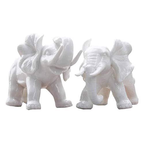 KSW_KKW Sencillo Estilo Europeo Moderno de la Sala de decoración de cerámica Elefante Decoración casa Nueva decoración del hogar Animal, Un Par