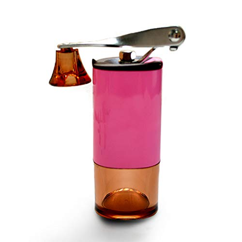 Draagbare koffiemolen, Huishoudelijke Outdoor Handmatige Koffiemachine, Afneembare Hand Grinder, Verstelbare Dikte, RVS roze