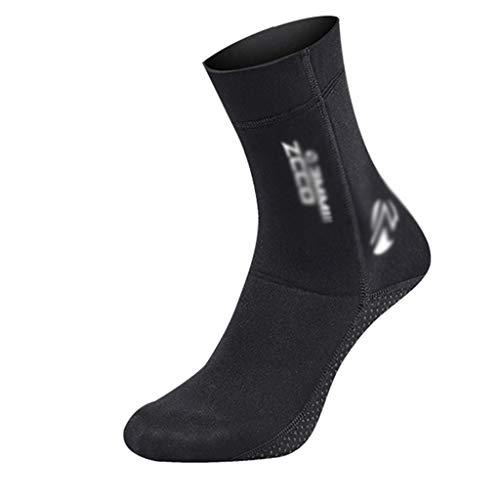 Byqny Unisex Calze in Neoprene,Black Neoprene Socks Resilient Calzare in Neoprene 3/5 mm per Immersioni subacquee, Snorkeling, Spiaggia, Surf, Nuoto, Vela