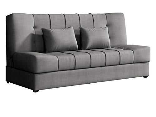 Mirjan24 Schlafsofa Sonik mit Bettkasten, Couch mit Schlaffunktion, 3 Sitzer Sofa, Bettsofa, Farbauswahl, Polstersofa, Schlafsofa, Couchgarnitur (Chester 18)