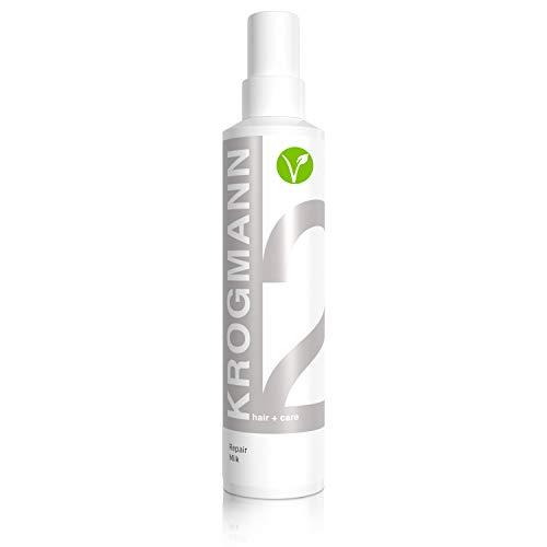 KROGMANN Repair Milk 2, Leave-in Conditioner für sofortige Farbkraft & Kämmbarkeit, intensiv pflegende Anti-Ziep Sprühkur, repariert Haarschäden, Haarkur ohne Silikon, Friseur-Qualität, 200 ml