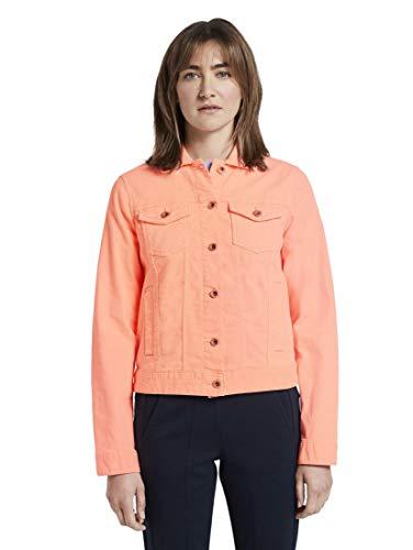 TOM TAILOR Damen Jacken Jeansjacke Papaya neon orange,S,21597,4556