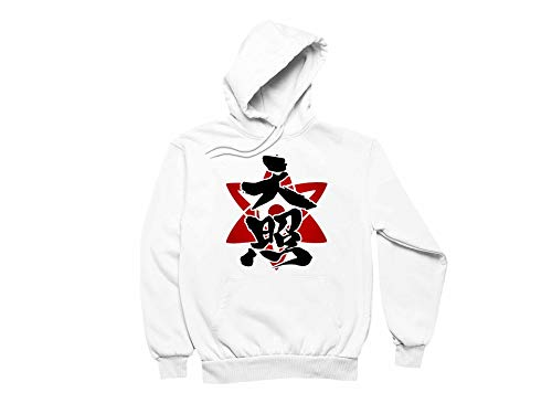 Ramoni Men's Naruto Design Hoodie Funny Long Sleeve Pullover with Pocket White XXXXX-Large