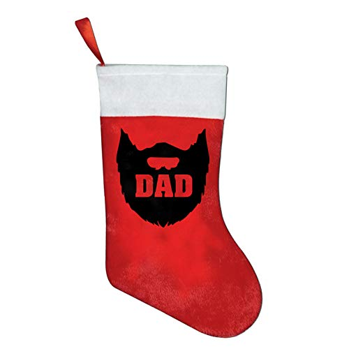 FQWEDY Dad Beard Christmas Stockings Santa Claus Gift Bag Holiday Decorations Party Ornaments
