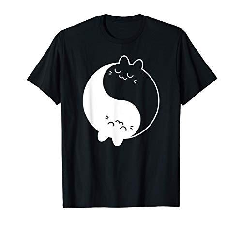 Yin Yang Cat Shirt Ying Yang Cat Shirt for Women Men Kids T-Shirt