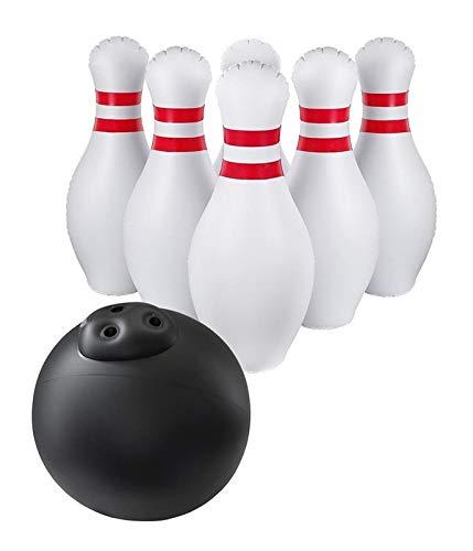 Aufblasbarer Bowling-Set Für Kinder Im Freien Rasen Garten Spiele Für Familien Jumbo 22