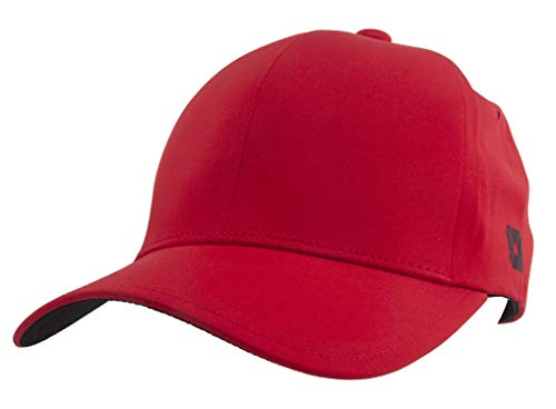 TOP HEADWEAR Trac-Fit Water Resistant Youth Fitted Baseball Cap - Red - S/M