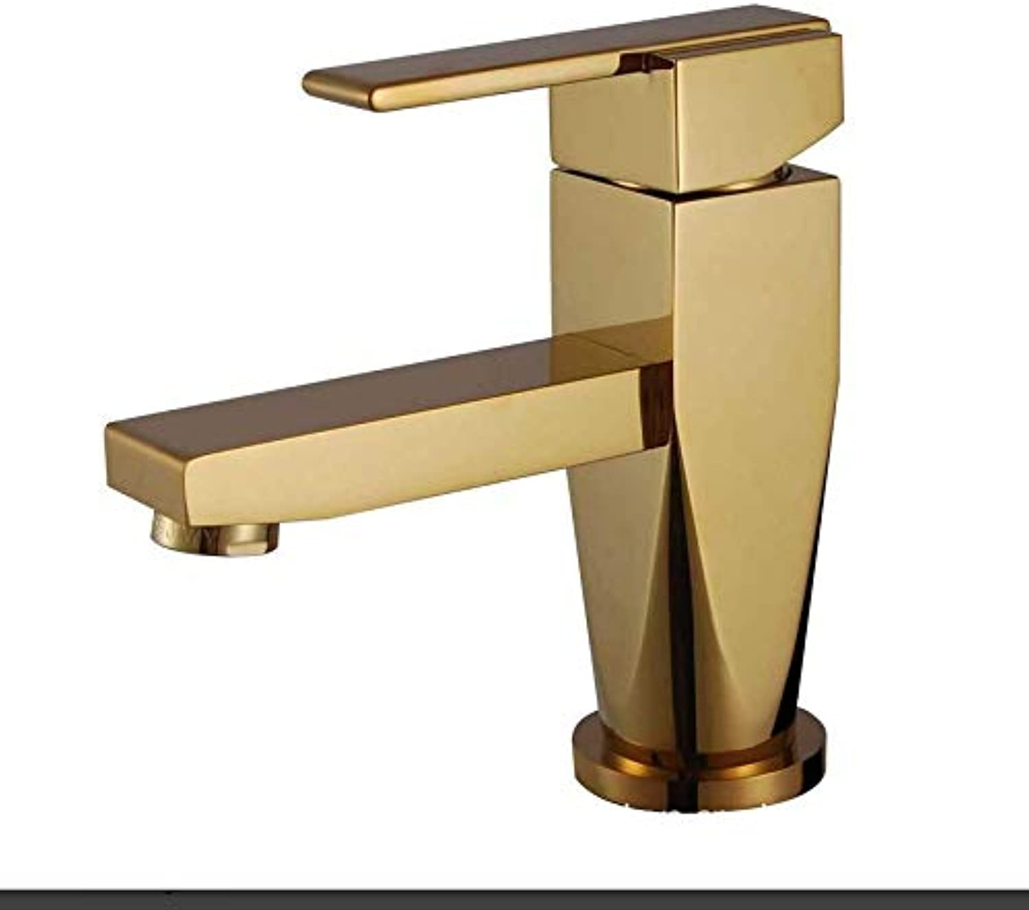 Modern Double Basin Sink Hot and Cold Water Faucetfaucet Copper-Plated Hot and Cold Water Basin Faucet Bathroom Cabinet Faucet
