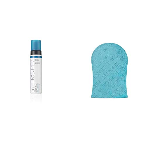 St.Tropez Self Tan Classic Bronzing Mousse, 1er Pack (1 x 240 ml) & Prep & Maintain Velvet Luxe Tan Applicator Mitt