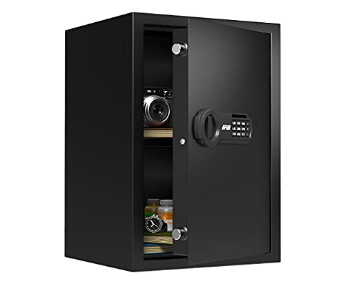 RPNB Deluxe Safe and Lock Box,Money Box,Digital Keypad Safe Box,Steel Alloy Drop Safe, Keypad Lock,Perfect for Home Office Hotel Business Jewelry Gun Cash Use Storage,1.8 Cubic Feet