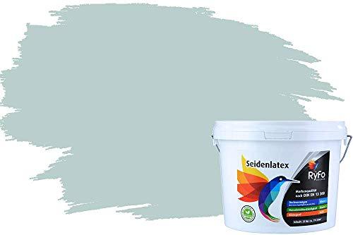 RyFo Colors Seidenlatex Trend Blautöne Lagune Hell 3l - bunte Innenfarbe, weitere Blau Farbtöne und Größen erhältlich, Deckkraft Klasse 1