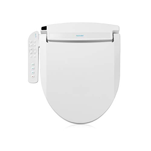 Brondell LT89 Swash Electronic Bidet Seat LT89, Fits Round Toilets, White – Side Arm Control, Warm Water, Strong Wash Mode, Stainless-Steel Nozzle, Nightlight and Easy Installation, LT89