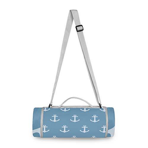 LUPINZ Picknick- und Outdoor-Decke mit Ankern, Blauer Hintergrund, Strandmatte für wasserfeste Handtasche, ideal für den Außenbereich, Strand, Wandern, Camping auf Gras