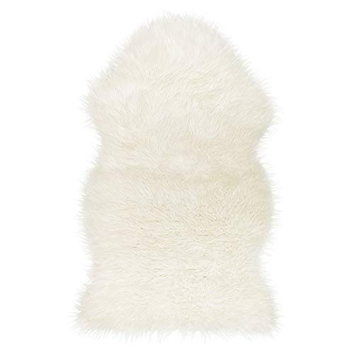 Ikea TEJN Lammfellimitate in weiß; (100x60cm); 2 Stück