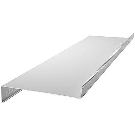 anthrazit silber Aluminium Fensterbank Zuschnitt auf Ma/ß Fensterbrett Ausladung 260 mm wei/ß dunkelbronze