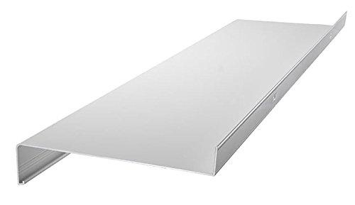 empasa Aluminium Fensterbank Fensterbrett für außen Ausladung 50 mm in verschiedenen Längen weiß, silber, dunkelbronze, anthrazit