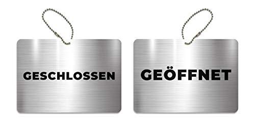KaiserstuhlCard Türschild Geschlossen Geöffnet 14,8 cm x 10,5 cm Schild Anhänger Wendeschild