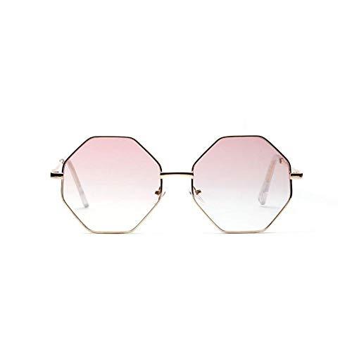 Mode Sonnenbrillen Frauen Polygon Sonnenbrillen Sechseck Sonnenbrillen Blau Rosa Gelb Klar Linse Sonnenbrille Frauen C7