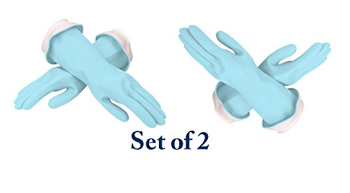 """Product Image 2: NEW! Casabella Premium""""Waterblock"""" Gloves Blue 2 Pair(4 Gloves) (Small)"""