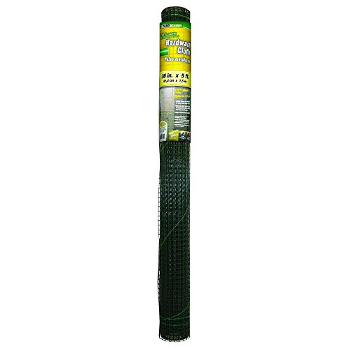 YARDGARD 308260B 1/2 Inch Mesh, 48 Inch by 25 Foot 19 Gauge Green PVC Coated Hardware Cloth