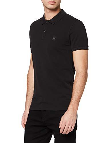 BOSS Casual Herren Poloshirt Prime 10203439 01, Schwarz (Black 1), Large