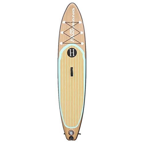 Wj Paddle Board Inflable Stand-up Tabla de Surf Duradero Barco Permanente esquí acuático Antideslizante de la Cubierta Adultos Jóvenes Principiante Isla Flotante Viajar Paddle Longboards