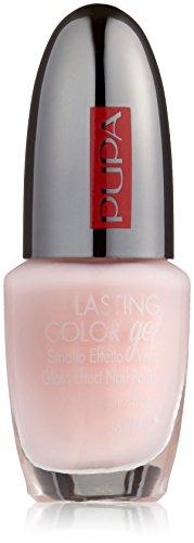 Pupa Lasting Color Gel 123 Talc Pink - Smalto Effetto Vetro - Glassy Effect Nail Polish