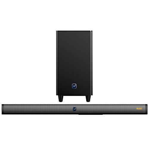 Matata Sound Bar MTMS804 True 120 Watt 2.1 Channel Home Theatre Soundbar, Wireless Subwoofer, LED Display, Multi Connectivity -...