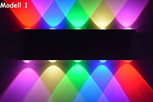 SLV Applique murale à LED design – Lumière bleue – Rouge