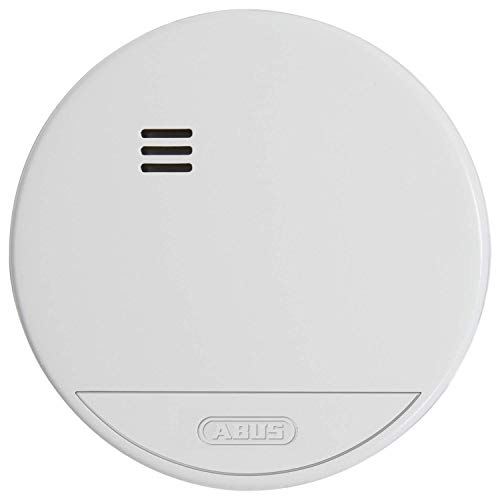 ABUS Rauchmelder RWM150 geeignet für Wohnräume und Kellerräume - 10 Jahre Batterie - 85 dB Alarmlautstärke - weiß - 37242