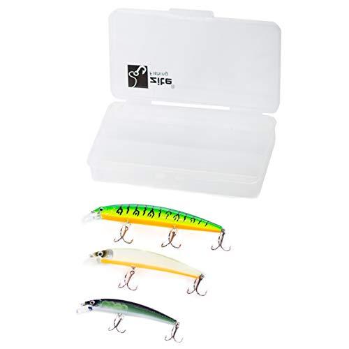 Zite Fishing Zander-Wobbler & Hecht-Wobbler Set - Angelköder Box 9-13cm - Raubfisch Kunstköder Flachlaufend UV-Aktiv